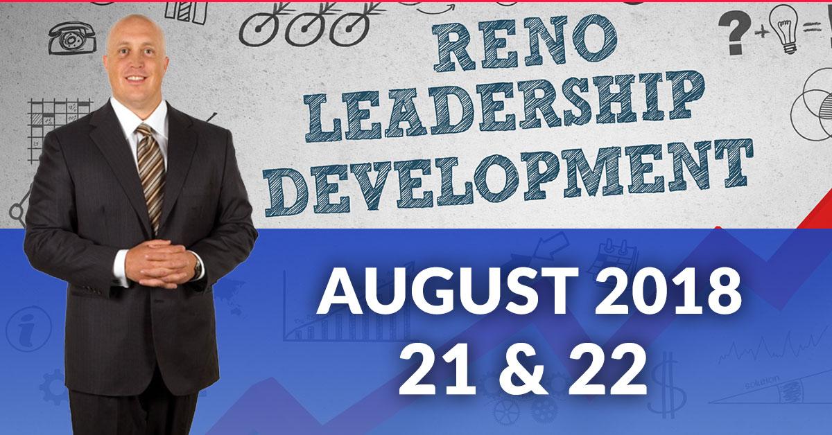 Leadership training in Reno August 21 22 2018