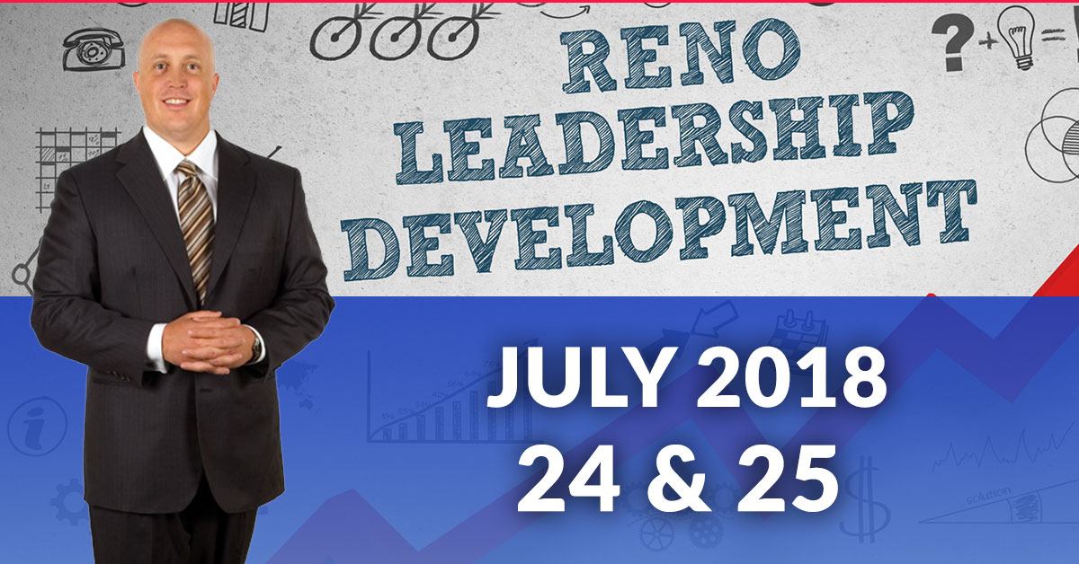 Leadership Training Reno July 24 25 2018