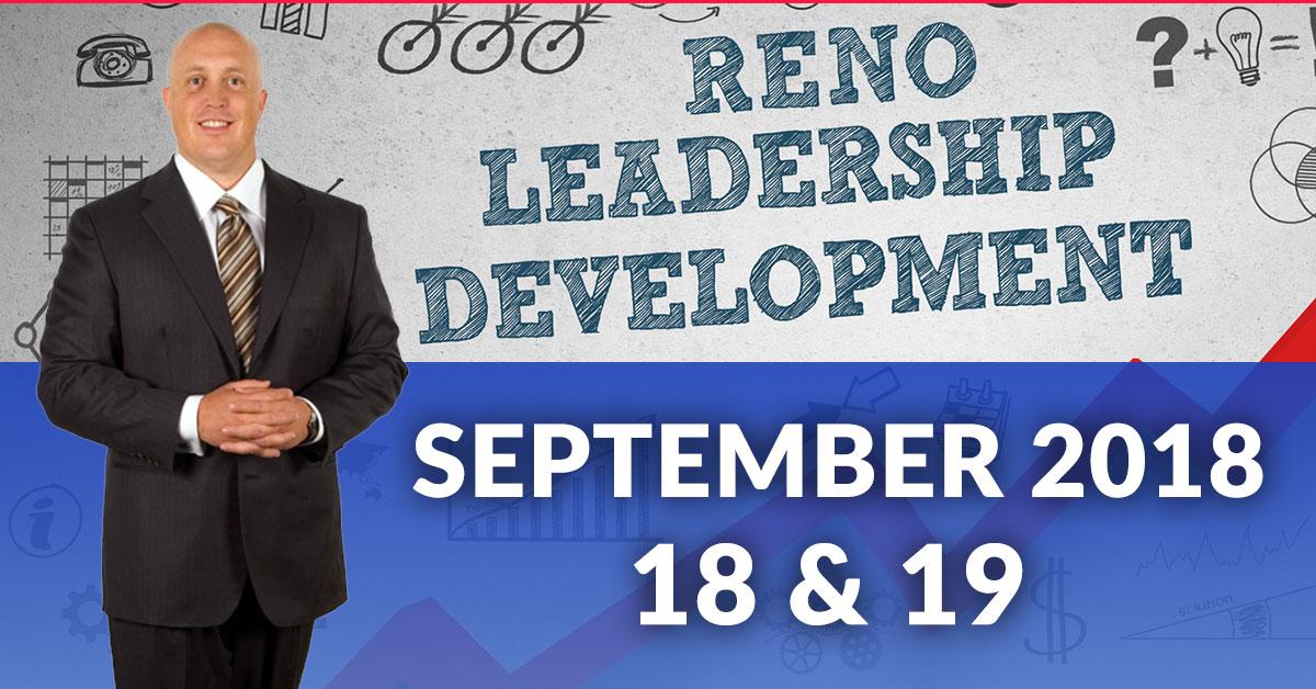 leadership training in reno September 18 19 2018